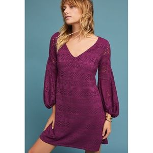 ANTHROPOLOGIE MAEVE | Laila Lace Purple Plum Dress